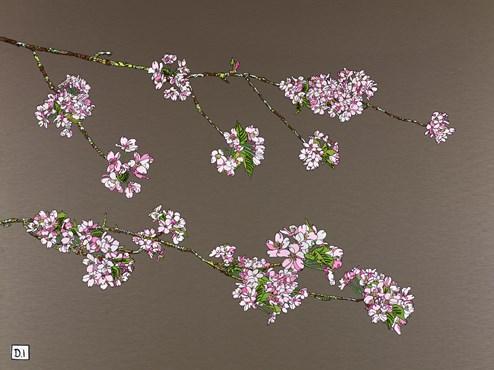 Pink Cherry Blossom II by Dylan Izaak - Original Painting on Aluminium